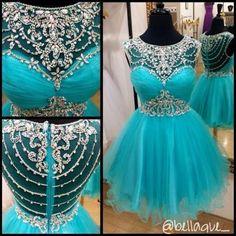 Blue Homecoming Dress,Short Prom Go..