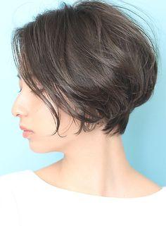 ツヤ感◆ひし形ナチュラルショートボブ|髪型・ヘアスタイル・ヘアカタログ|ビューティーナビ