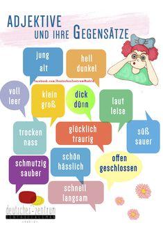 Deutsch / German / alemán / Wortschatz / Vocabulario  / DAF / Grammatik / gramática / Adjektive / adjetivos