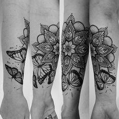 butterfly mandala tattoo - Google Search