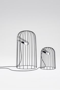 '20200mm' and '12200mm' lamps by Nendo