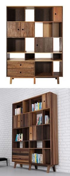 Give your beloved books a cozy, rustic home with this handsome Williamsburg Bookcase. Beautifully made from a mixture of reclaimed hardwoods, this bookshelf boasts a charming combination of natural woo...  Find the Williamsburg Bookcase, as seen in the The Dark Side of Mid-Century Collection at http://dotandbo.com/collections/the-dark-side-of-mid-century?utm_source=pinterest&utm_medium=organic&db_sku=116578