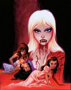 Vamps by Bruce Timm Bruce Timm, Comic Book Artists, Comic Artist, Comic Books Art, Female Vampire, Vampire Art, Arte Horror, Horror Art, Vampire Masculin