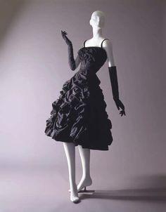 "Christian Dior ""Diamant Noir"" dress ca. 1948 via The Costume Institute of the Metropolitan Museum of Art"