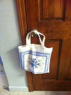 "reusable tote made from cloth calendar ""moms swap"""