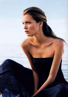 Donna Karan, American Vogue, March 1998. Esther Cañadas