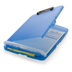 Officemate  Slim Clipboard Storage Box, Translucent Blue (83304)