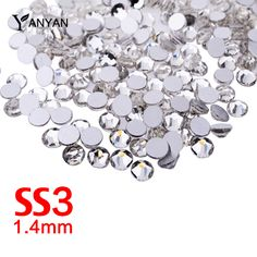 SS3 Nail Rhinestones,1440pcs/lot Clear Crystal Flat Back Non Hotfix Glitter Nail Clothing Accessories,3d Nail Art Decorations #clothing,#shoes,#jewelry,#women,#men,#hats,#watches,#belts,#fashion,#style