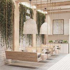 Cafe Shop Design, Coffee Shop Interior Design, Salon Interior Design, Bakery Design, Restaurant Interior Design, Store Design, Decoration Restaurant, Deco Restaurant, Modern Restaurant