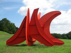 Alexander Calder outdoor Sculptures | Five Swords by Alexander Calder at Storm King Art Center. Gi-normous ...