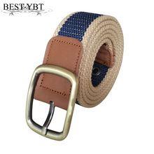 Smart Best Ybt Unisex Canvas Belt Fine Alloy Pin Buckle Men Belt Fashion Stretch Weave Casual Simple Men And Women Cowboy Belt Sale Price Apparel Accessories