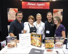 Michael Angelo's went to the BlogHer conference in 2011. Pictured from left to right: Greg (brother), Sara (mom), Cheryl (wife), Michael Angelo and blogger friend, @A Thrifty Mom!