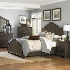 Magnussen Brenley Wood Panel Bed in Umber - B2524-XX-BED - Lowest price online on all Magnussen Brenley Wood Panel Bed in Umber - B2524-XX-BED