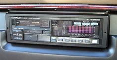 Gorgeously complicated Kenwood car-stereo (1980s)