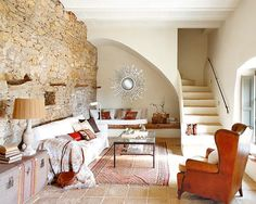 Bedroom Decorating Ideas Spanish Home Interior Design Ideas Beautiful Spanish Interior Designs Wish Home Design Theradmommy Com And Living Room Under Stairs, Space Under Stairs, Rustic Living Room Furniture, Living Room Decor, Living Rooms, Living Area, Tiny Living, Modern Living, Living Spaces