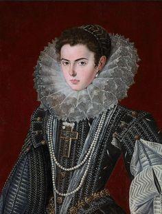 """https://flic.kr/p/B8LJoY   LA INFANTA ANA MAURICIA DE AUSTRIA   Bartolomé González. 1615. Al cumplir los 13 años, Felipe III regaló a su primogénita la fabulosa cruz de diamantes que lucirá en innumerabes retratos y que se llevó a Francia. Este retrato quizá la representa a los 14 años. La madurez, gravedad y porte de la princesa han hecho que se haya titulado este retrato como de """"dama desconocida"""". González no habría podido retratar a ninguna aristócrata española luciendo la hist..."""