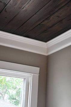 wooden ceilings? yes, please!