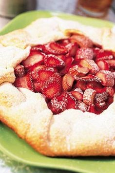 Pie crust wraps around a sweet mixture of strawberries and rhubarb in this mouth-watering pastry recipe.#rhubarb #rhubarbrecipes #summerdesserts