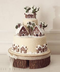 The video consists of 23 Christmas craft ideas. Christmas Cake Designs, Christmas Cake Decorations, Christmas Cupcakes, Christmas Sweets, Christmas Gingerbread, Christmas Cooking, Gorgeous Cakes, Amazing Cakes, Winter Torte