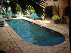 Pool and Terrace at Estrella Mar www.casabayvillas.com