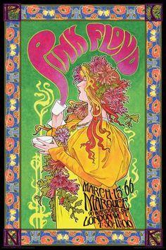 Pink Floyd Marquee '66 Affiche sur AllPosters.fr