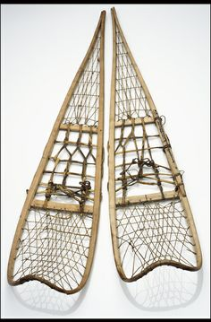 Snowshoes; Yup'ik, 1890-1905, Alaska. Carved, bent, laced, tied Native Art, Native American Art, Aboriginal People, Wolf Tattoos, Mountain Man, National Museum, Arctic, Art History, Carving