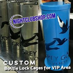 Custom Bottle Lock Locking Cage for VIP Tables and Booths. We can Customize them with your Brand or Venues Name,Art or Logo. Bottle Service Delivery Trays and Cages available and in stock! #VIP #Bottle #Service #Cage #Lock #Tray #BottleTray #Custom #VIPTray #Locking #LockCage #Liquor #BottleCage #BottleLock http://ow.ly/bXON306xgQs