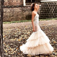 Colourful dress #wedding_dress #bride
