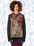 LOVE the print & neckline on the Sakura Knitted Sweater by Catherine Andre