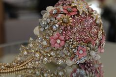 Custom created brooch bouquets – Jeweled Bouquets by Danielle Aspinwall Diy Wedding Flowers, Wedding Bouquets, Wedding Ideas, Trendy Wedding, Luxury Wedding, Simple Bridal Shower, Wedding Hairstyles With Veil, Strictly Weddings, Wedding Cake Rustic