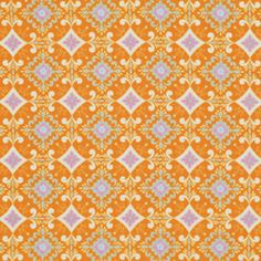 Pretty Little Things Fabric Gracie in Orange by chitchatfabrics