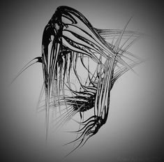 Digital artwork, titled Cambrian in black and white, (c) Richard Andreucetti, inspiration Cambrian animals, a model presented in… Irish, 3d, Black And White, Abstract, Digital, Artwork, Model, Animals, Inspiration
