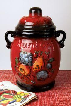Scheurich Keramik 'Rumtopf' Rum pot / preserving jar, West Germany circa 1970′s