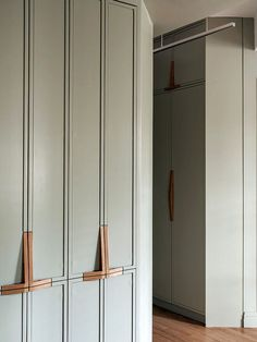 Cabinets in pastel green tone Fantastic design great color