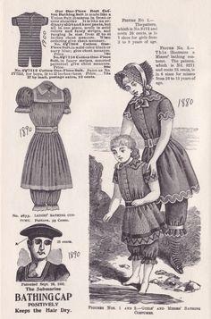 Victorian Women's Bathing Suits