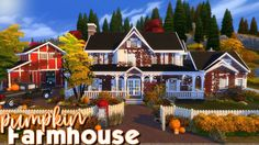 Today I build a Pumpkin Family Farmhouse with 3 bedrooms and 2 bathrooms, a barn and a pumpkin patch! Pumpkin Family, Die Sims, Sims Building, Sims 4 Build, Sims 4 Houses, Autumn Theme, Happy Fall, Beautiful Day, The Neighbourhood