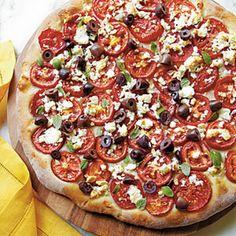 Fresh Tomato-Feta Pizza!