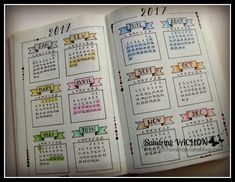 Page Calendrier 2017 Sandrine VACHON (BULLET JOURNAL) Plus