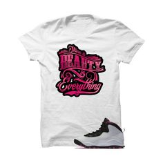 Jordan 10 Gs Vivid Pink White T Shirt (Beauty)