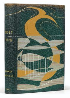 Melville, Herman MOBY DICK. TRADUIT DE L'AMÉRICAIN PAR LUCIEN JACQUES, JOAN SMITH ET JEAN GIONO. PARIS, GALLIMARD, 1941.  BINDING:  DEVAUCHELLE
