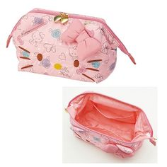 Sanrio Character Hello Kitty Face Pouch Bag Multi Travel Pouch Pink Japan Skater #SanrioJapan