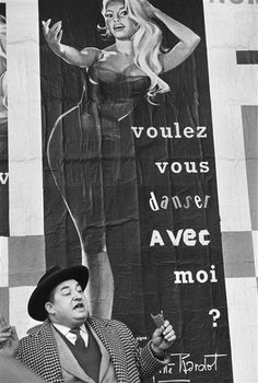 "Gisèle Freund - Poster: Brigitte Bardot... ""Do you want to dance with me ?"" Paris, 1960. °"