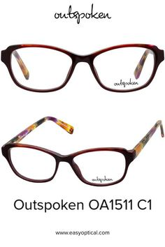 OUTSPOKEN OA1511 C1 Eyewear, Easy, Style, Swag, Eyeglasses, Stylus, General Eyewear, Sunglasses, Eye Glasses
