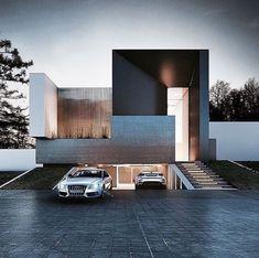 Image result for modern subterranean house garage entrance