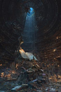 "steampunktendencies: ""Master of the books by Waldemar Bartkowiak """