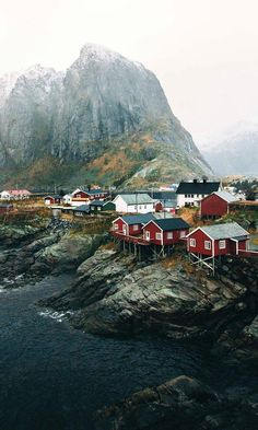 of the Day: Little Red Houses in Norway Today's picture comes from Garrett K. The tiny fishing village of Hamnoy in Norway is any travel photographer's dream, with small, picturesque houses set along the craggy seaside landscape. Lofoten, Landscape Photography, Nature Photography, Photography Tricks, Digital Photography, Village Photography, House Photography, Creative Photography, Photography Themes