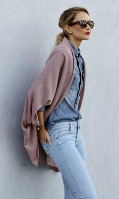 Lightweight, soft blush pink cocoon wrap