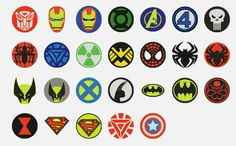 superhero embroidery patterns