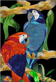 1000 images about Stained Glass Birds on Pinterest