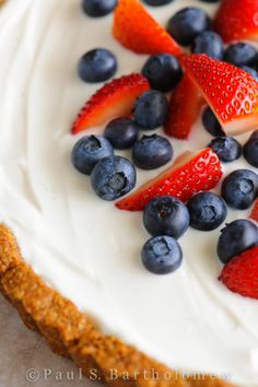 Red White and Blue Berry Tart.